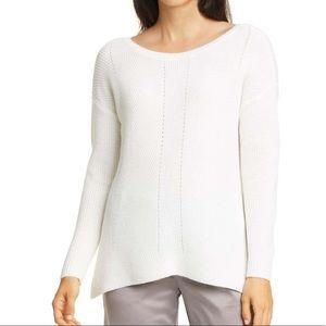 Eileen Fischer Bateau Neck Merino Wool Sweater